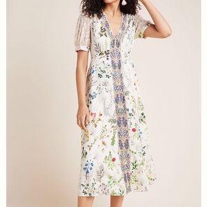 Anthropologie Donna Floral Midi Dress